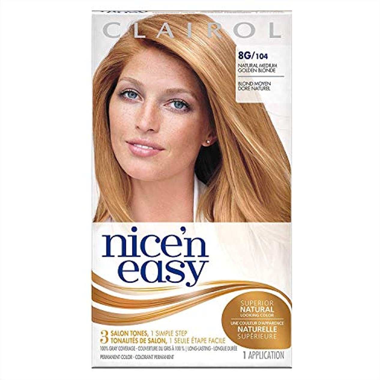 とティームディスク自体海外直送品Clairol Nice N Easy Nice 'n Easy Hair Color 104 Natural Medium Golden Blonde, Medium Golden Blonde 1 each...