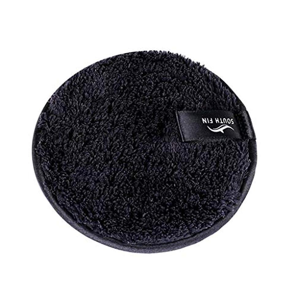 奴隷消化器未払いdailymall 全3色 メイクリムーバーパッド 化粧品 フェイシャル クレンジング パフ スポンジ - ブラック