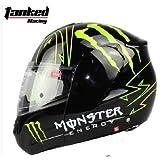 バイクヘルメット システムタイプ  モンスターエナジー(艶有り)モデル M56-58CM