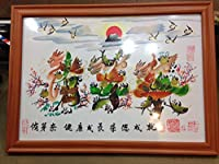 開運風水花文字、名前を書きます、横浜中華街から発送、贈り物最適です。 (A4サイズ額付き) [並行輸入品]