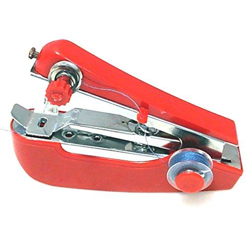 ポータブル タイプ の 携帯 ミシン 見た目はまさに ホッチキス 片手で縫える 手の平 サイズの ハンディミシン (レッド)