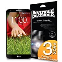 Invisible Defender - LG Optimus G2 Screen Protector with [3 PACK/Lifetime Replacement Warranty] The World's Best Selling Premium EXTREME CLEAR Screen Protector for LG Optimus G2 2013 Model