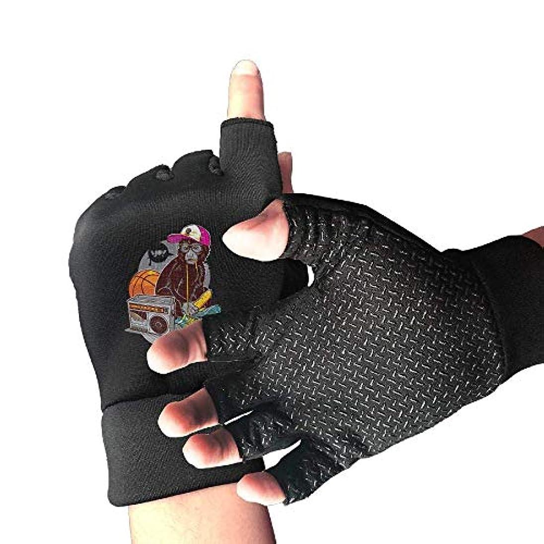 流トーナメントティーンエイジャーCycling Gloves Pop Monkey Men's/Women's Mountain Bike Gloves Half Finger Anti-Slip Motorcycle Gloves