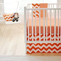 New Arrivals Zig Zag Baby 2 Piece Crib Bedding Set, Tangerine by New Arrivals [並行輸入品]