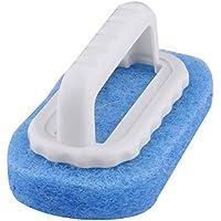 uxcell 洗濯パッドブラシ ウォールタンクフロア プラスチックハンドル キッチンバスルーム ブルー