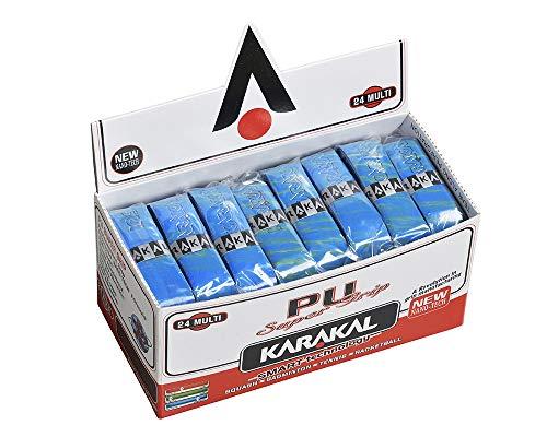 KARAKAL(カラカル) グリップ 全ラケットスポーツ対応 PU SUPER GRIP 24 Multi 青 24個1セット KJ 666B 青