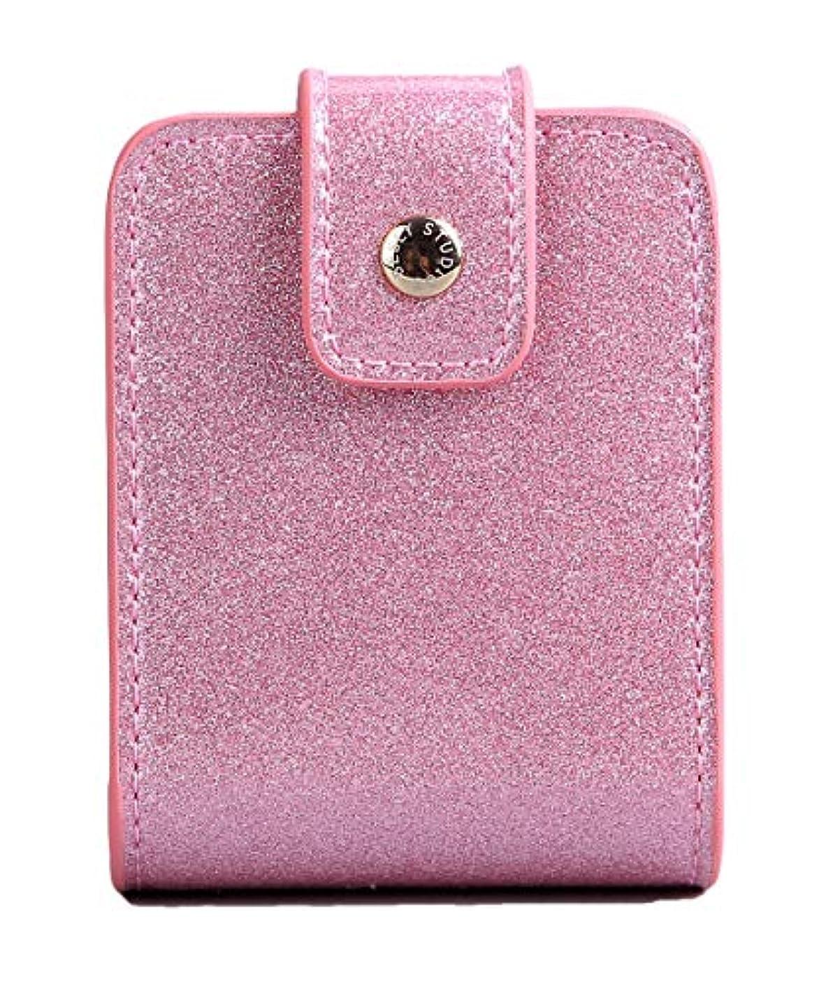 革命彼女の忍耐BESLY 女性用リップ化粧ポーチ リップを収納する ミニサイズ 携帯しやすい 人工製 ピンクPU革