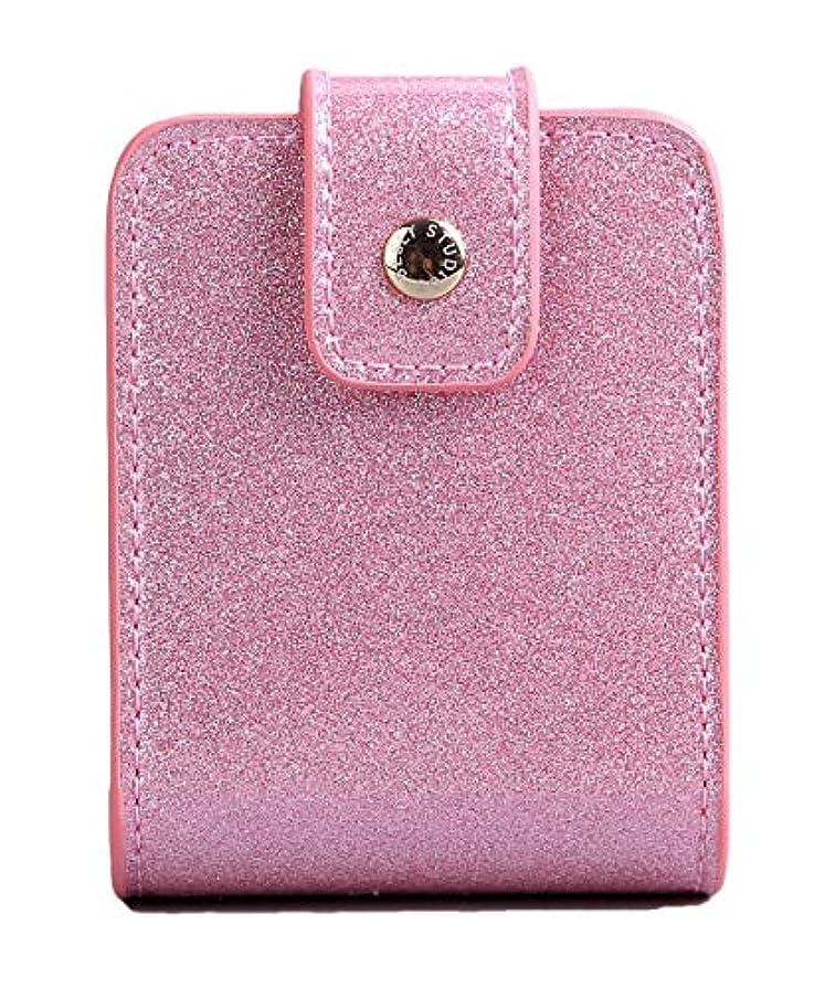スペード専門知識斧BESLY 女性用リップ化粧ポーチ リップを収納する ミニサイズ 携帯しやすい 人工製 ピンクPU革