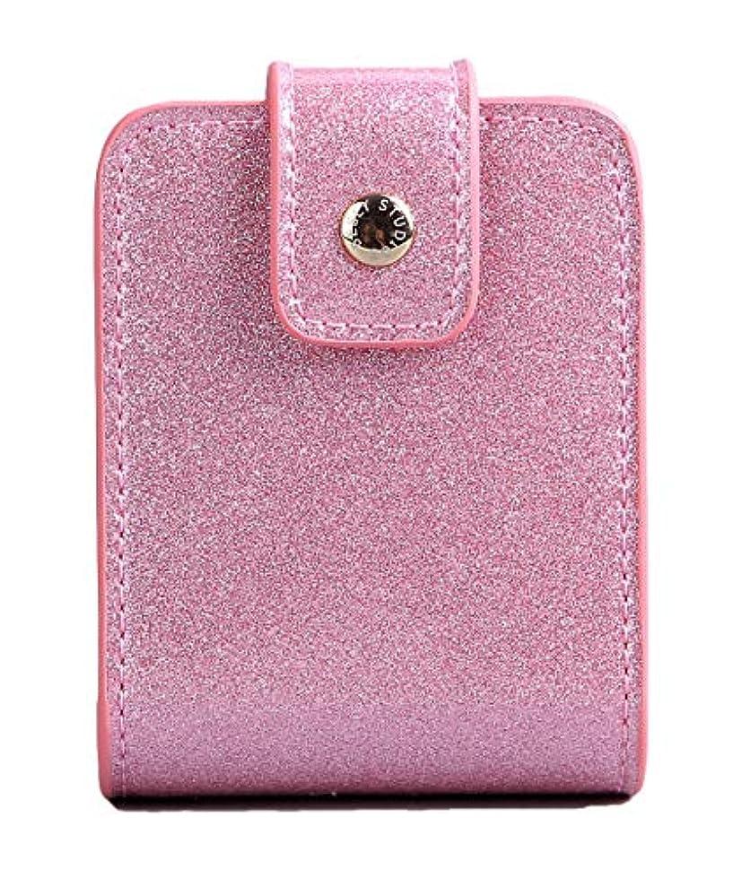 嫉妬くぼみ蘇生するBESLY 女性用リップ化粧ポーチ リップを収納する ミニサイズ 携帯しやすい 人工製 ピンクPU革