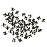 【ノーブランド品】触覚プッシュボタン タクトスイッチ マイクロスイッチ 切り替え 6x6x4.3mm 約100個