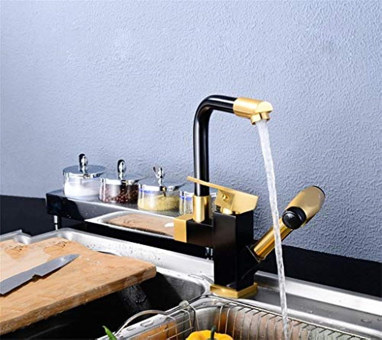 バンジョー法律によりおとうさんキッチン/バスルーム/デッサン用/ 360°回転蛇口/セラミックスプール+スペースアルミ材/ダブルヘッドウォーター/格納式 作りが精巧である