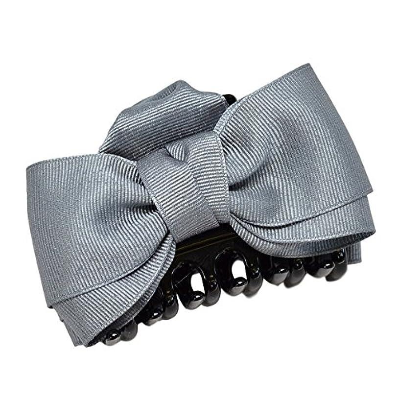 ズボン前兆不機嫌そうな(ヴィラジオ)Viragio ヘアクリップ リボン 大 大きめ バンスクリップ 黒 シンプル ヘアアクセサリー 髪留め 髪飾り ブランド vi-0258