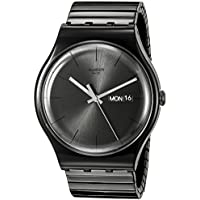 Swatch Unisex SUOB708B Mystery Life Analog Display Quartz Black Watch