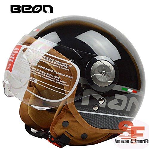 バイクヘルメット ジェットヘルメット 男女共用ヘルメット 春、夏、秋、冬 PSC付き BEON-110【L/商品7】