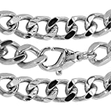 新宿銀の蔵 幅2.2mm~11.6mm カット喜平 ( きへい )サージカルステンレス チェーンネックレス 長さ約45~60cm (収納ポーチ・シルバー磨き用布セット) 人気 ネックレス チェーン メンズ レディース