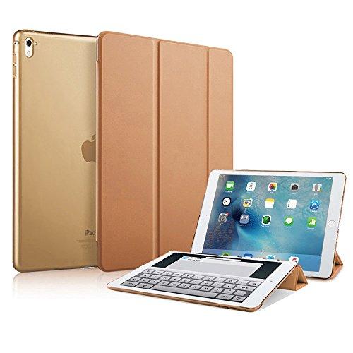 MS factory iPad Pro 9.7 ケース カバー アイパッド プロ ipadpro 2016 9.7インチ スマートカバー オートスリープ 全10色 ブラウン 茶色 IPDP9-SMART-BR