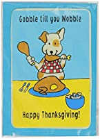 Crunchkins Edible Crunch Card, Gobble Till You Wobble Happy Thanksgiving by Crunchkins