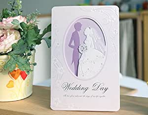 結婚式(ウエディング) 手作り招待状 ペーパーアイテム 10枚セット 【プリンセス】 AMOLEAF