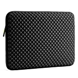 Evecase 17.3 インチ ネオプレン製 男女兼用 タブレット・ラップトップ インナーバッグ 菱格柄 (ブラック)