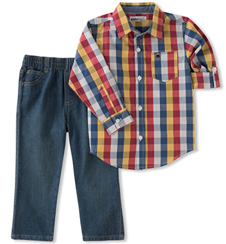 Kids Headquarters Baby-Boys Woven Shirt Pant Sets Pants Set - Multi - 12M