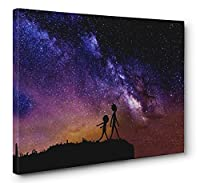 Rick and Morty Szechuan Sauce Galaxy Framedキャンバス壁アート( Ready to Hang ) 24x36in.