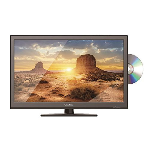 テレビ 24型 24V 液晶テレビ 24V型 DVD内蔵 地上デジタルフルハイビジョン液晶テレビ 小型 TV   Grand-Line GL-24L01DV エスキュービズム  D