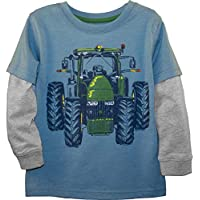John Deere Boys' 4T, Chambray Heather