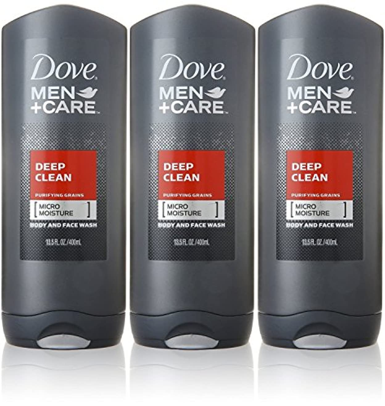 理由たっぷりとしてDove Deep Clean Mens Body Wash, 13.5 Ounce -- 3 per case. by Dove
