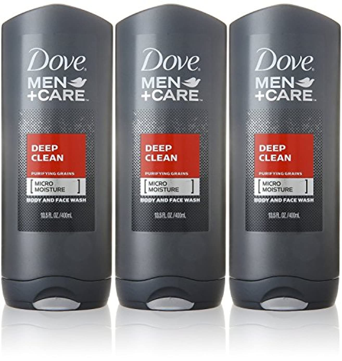 扱いやすい思いやりのある本物Dove Deep Clean Mens Body Wash, 13.5 Ounce -- 3 per case. by Dove