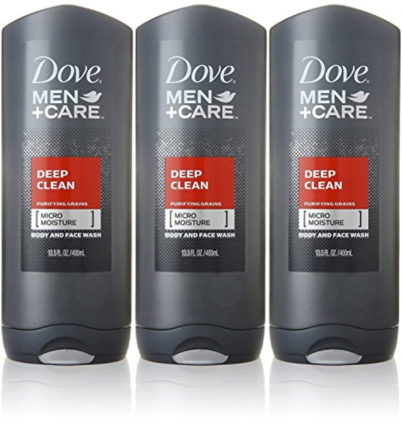 ゾーン経済広くDove Deep Clean Mens Body Wash, 13.5 Ounce -- 3 per case. by Dove