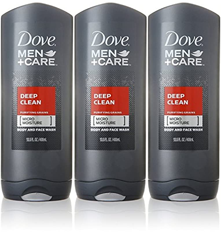 堀外国人テクスチャーDove Deep Clean Mens Body Wash, 13.5 Ounce -- 3 per case. by Dove