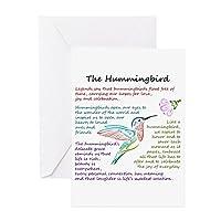 CafePress–Hummingbirdのグリーティングカード–グリーティングカード( 20-pack、注意カードで空白の内側、誕生日カード光沢