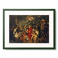 ピーテル・パウル・ルーベンス Peter Paul Rubens 「Adoration of the Magi. 1608 and 1628/29 (enlarged)」 額装アート作品