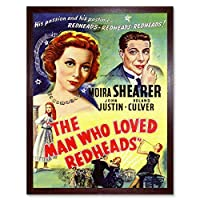 Movie Film Man Love Redheads Shearer Comedy Romance USA Art Print Framed Poster Wall Decor 12X16 Inch 映画膜愛コメディーロマンスアメリカ合衆国ポスター壁デコ