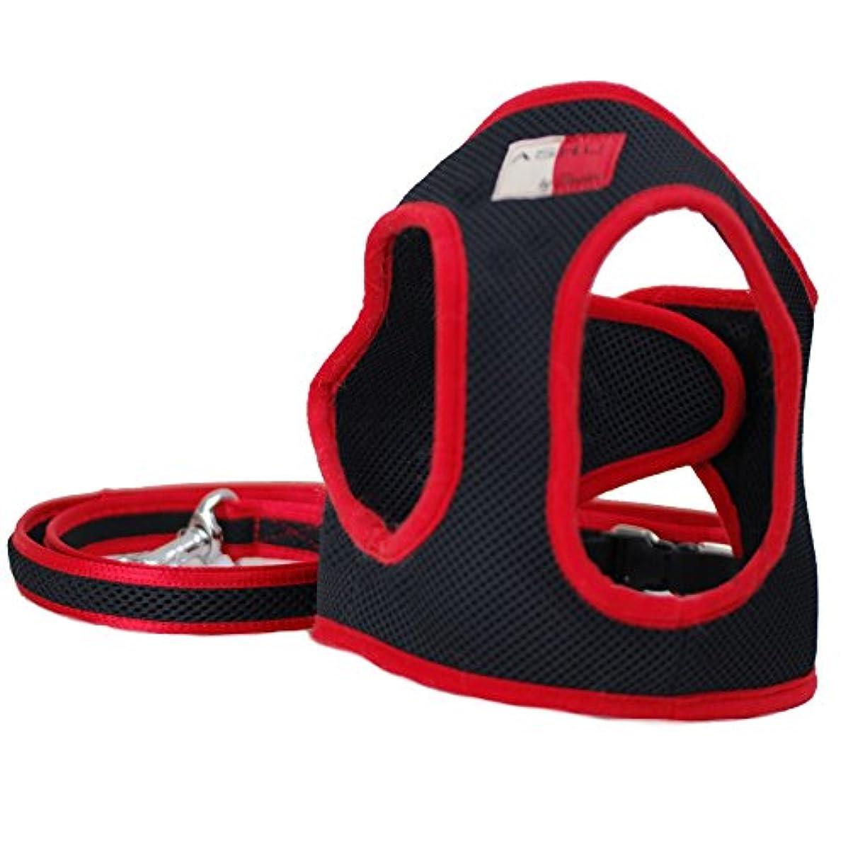 鳥飢饉ロデオASHU 散歩用 ウエアハーネスセット Sサイズ 小型犬 2kg~3.5kg(目安) (メッシュ?ブラック)