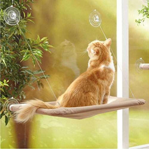 Linyuan ペット Pet Cat Window Mounted Bed...