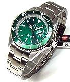 TECHNOS テクノス メンズ腕時計 ダイバーウォッチ 回転ベゼル グリーンダイヤル 工具ブレスセット TSM402SM-SET [並行輸入品]