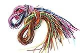 革紐 皮紐 かわひも スエード レザークラフト アクセサリー ネックレス ブレスレット チャーム チョーカー バングル ミサンガ 手作り オリジナル (カラフルカラー38色76本)
