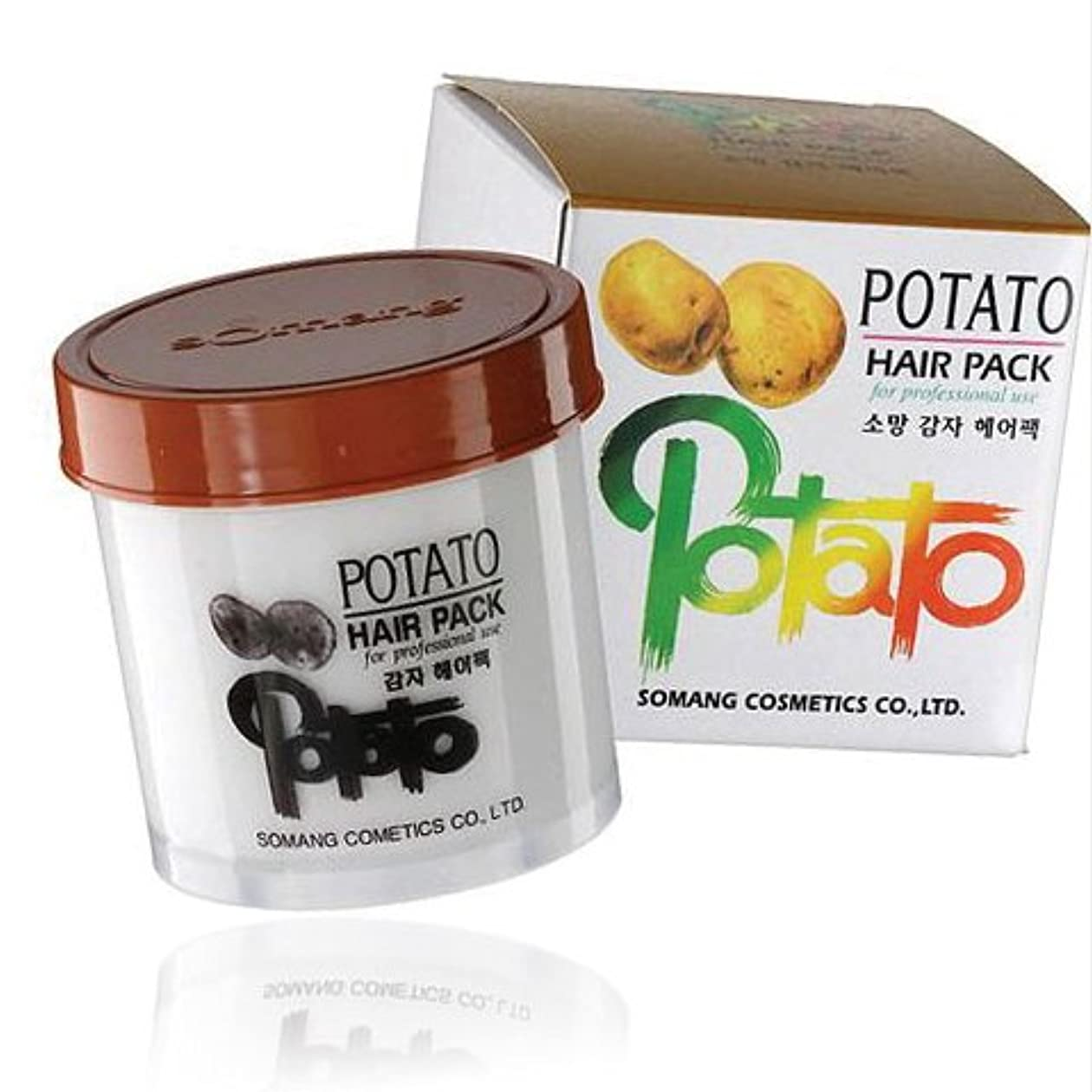 顕微鏡クマノミモチーフ【韓国コスメ】[Somang/希望]Somang Potato Hair Pack 150ml/ポテト(ジャガイモ)ヘアパック(海外直送品)