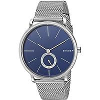 Skagen Men's Hagen Watch in Silvertone with Mesh Bracelet and Blue Dial