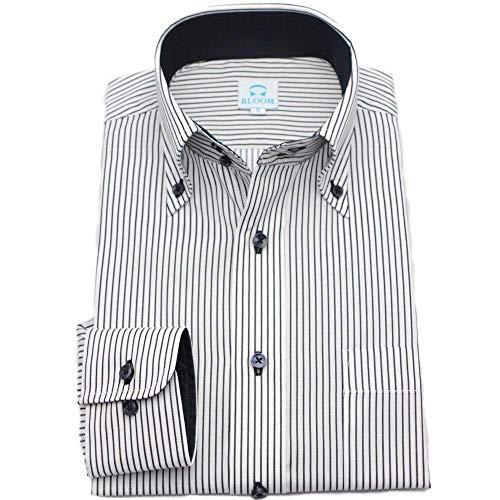 (ブルーム) BLOOM オリジナル 長袖 ワイシャツ 定番 S M L LL 3L 4L 5L 6L 10柄 形態安定加工 ドゥエボットーニ ボタンダウン
