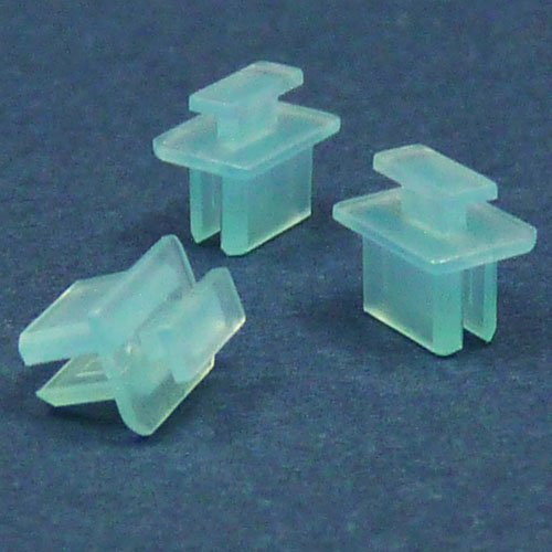 Miniディスプレイポートコネクタ用キャップ(半透明薄水色)つまみあり 6個 パック DSPMNCK-BL1-6