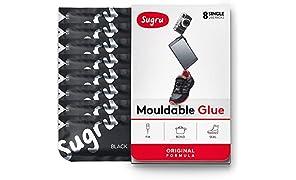Sugru Moldable Glue - Original Formula - Black 8-Pack - I000465