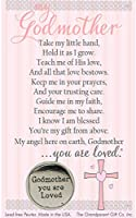 Godmother You Are Loved Pewter Coin with Sentiment Card by The Grandparent Gift Co.