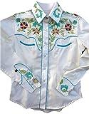 ロックマウント Women's Floral Embroidered Shirt レトロな専用ギフトBOX梱包済 RM7787-IVO (L)
