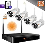 [One Key Network]CORSEE HD Wireless Security Camera System with 4x960P Weatherproof Night Vision Wireless Cameras,Fast Remote View by Mobile and PC,1TB HDD.(Suppot Motion Detection and Email Alarm) [並行輸入品]