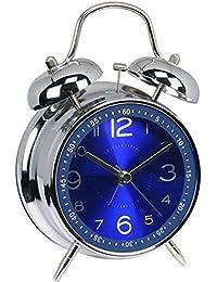 (ヤンググロリ)YOGLY 絶対起きる!!大音量&爆裂振動式目覚し時計 大音量 目覚まし時計 ベルズ インパクト アナログ表示 連続秒針 置き時計 ベルズ ミニ アラーム クロック