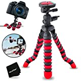 "12"" Inch Flexible Tripod with Quick Release Plate for Nikon Coolpix S9900, S7000, S6900, S3700, S2900, C810, S33, S32, S9700, .."