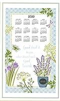 2019年カレンダータオル& Dowel Herb Garden–Good Food is Better When共有。Herbs、バタフライby Kay Dee