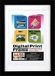 NAKABAYASHI フォトフレーム フ-DPW-A4-D ブラック A4判/B5判